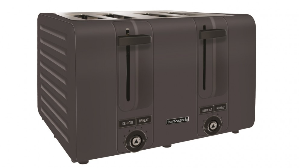 Trent and Steele 4 Slice Toaster - Charcoal