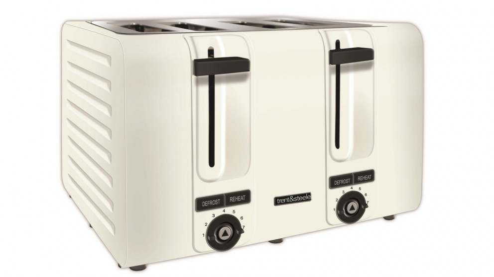 Trent and Steele 4 Slice Toaster - White