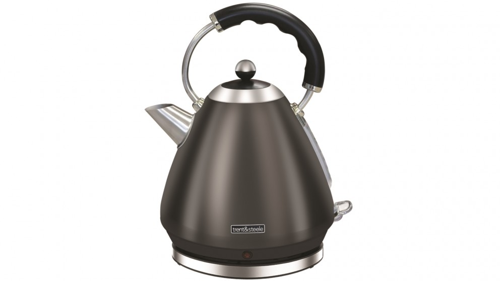 Trent & Steele 1.7L Shadow Steel Cone Kettle - Black