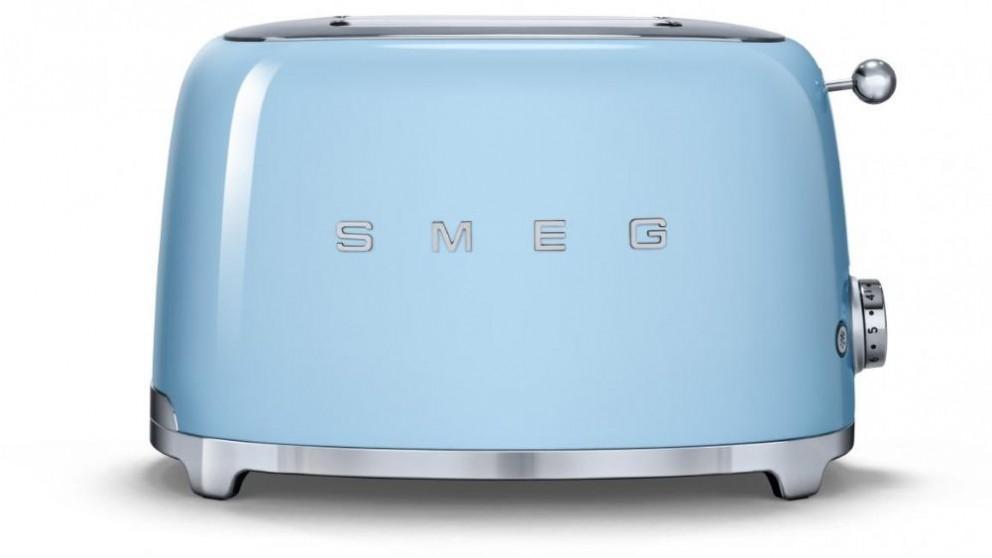 Smeg 50's Style Series 2 Slice Toaster - Blue