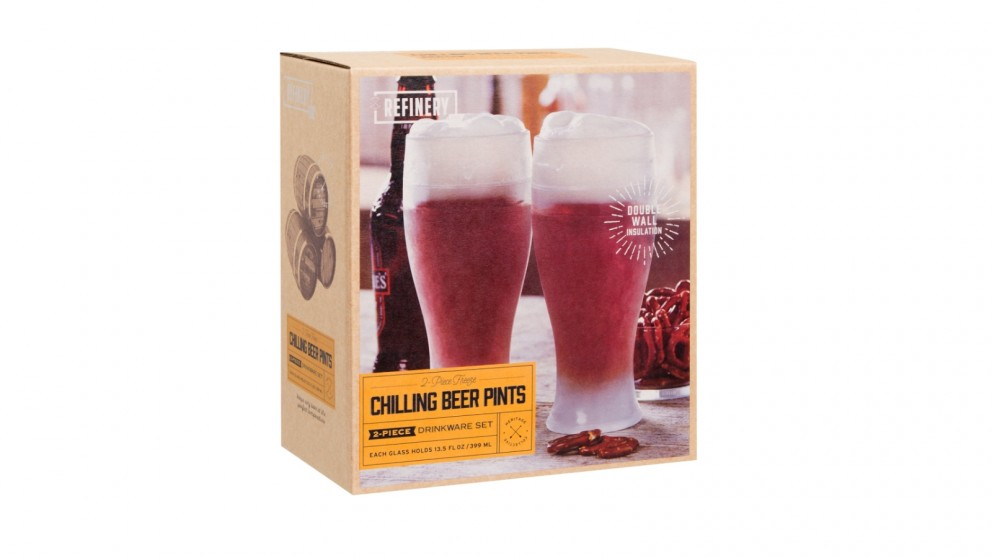 Refinery Cooling Beer Pint Glasses - 2 Pieces