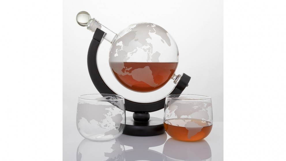 Refinery Whiskey Decanter Globe and Glass Set