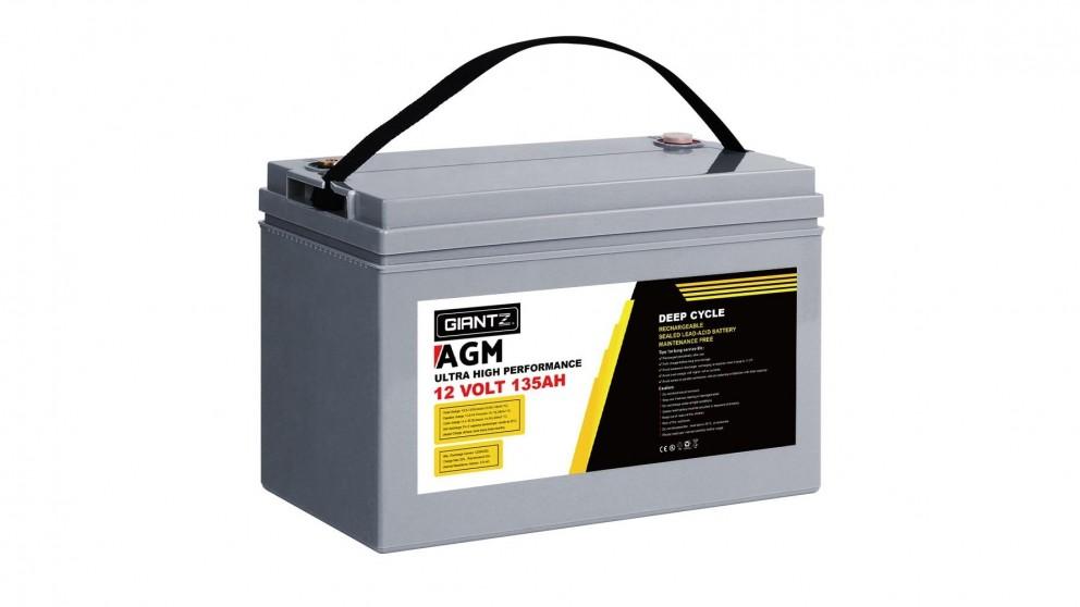 Giantz 135AH Deep Cycle Battery 12VPower