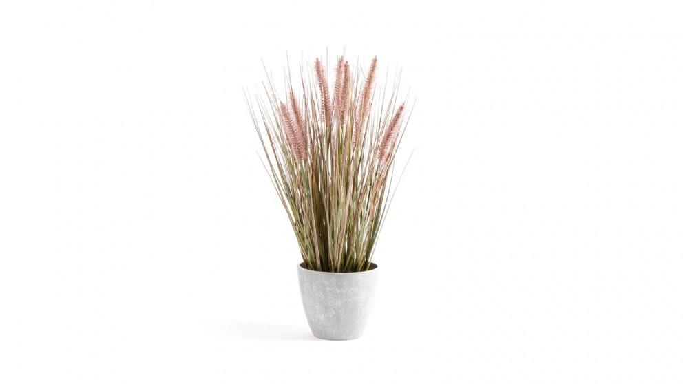 Cooper & Co. Artificial Onion Grass Purple Red Tail - 46cm