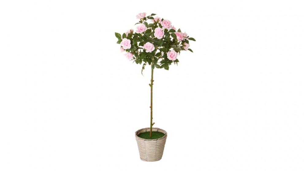 Cooper & Co. Artificial Rose Bush Pink - 85cm