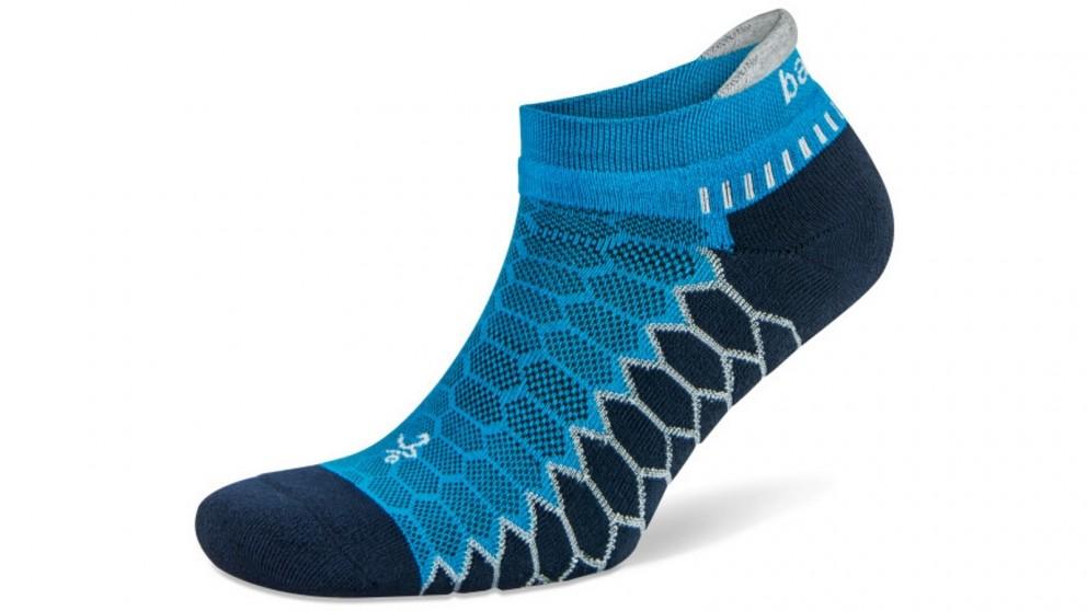 Balega Silver No Show Turquoise Socks - Small
