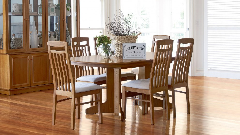 Tuscan 7 Piece Extension Dining Setting Part 92