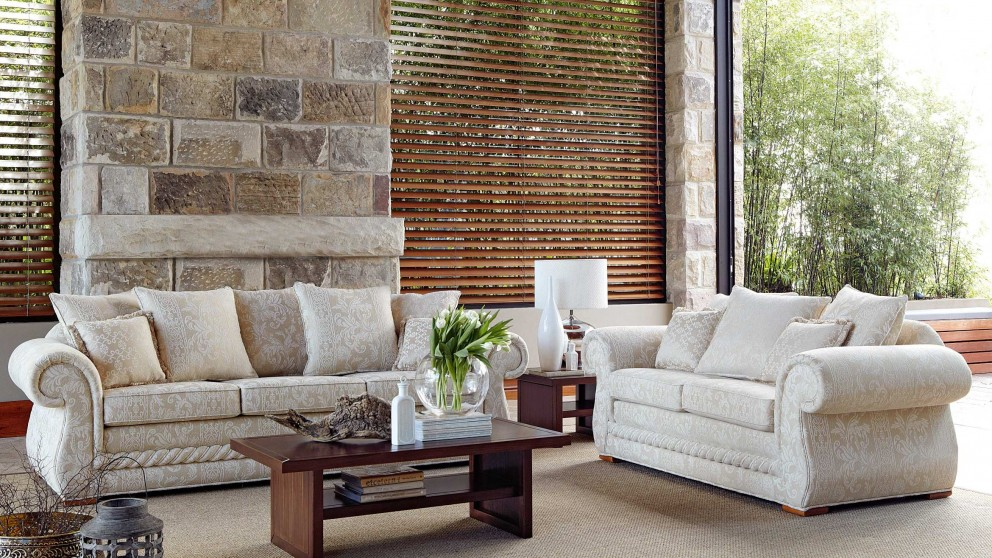 Buy tuscany 3 seater fabric sofa harvey norman au Home furniture packages australia