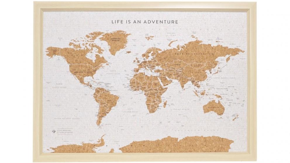 Splosh Travel Board World Map
