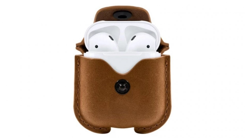 Twelve South Airsnap Case for Airpods - Brown