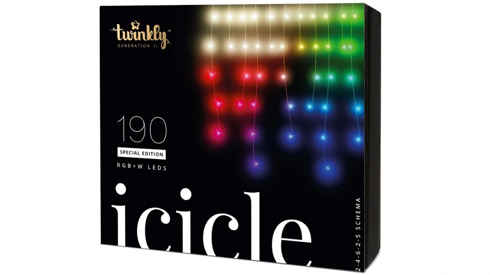 Twinkly Icicle Light Special Edition 190 RGB+W LED Clear Wire Generation II