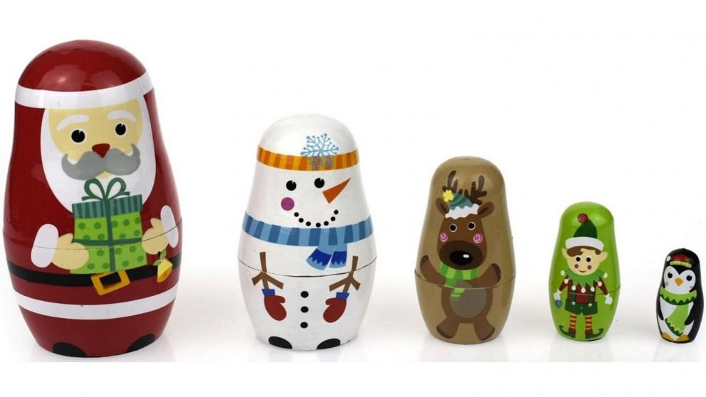Tooky Toy Christmas Nesting Dolls