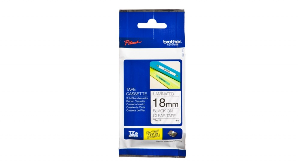Brother TZE-121 9mm Black on Clear TZE Tape