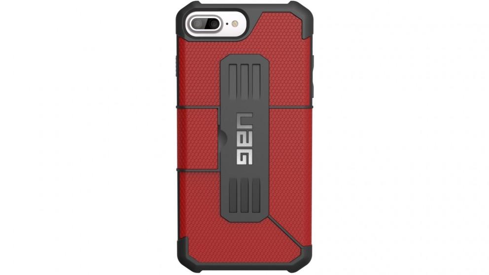 UAG Metropolis Folio Case for iPhone 8 Plus/7 Plus/6s Plus - Magma