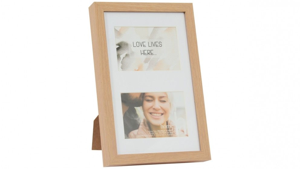 UR1 Home 8x12-inch Oak Photo Frame with 2 4x6-inch Openings