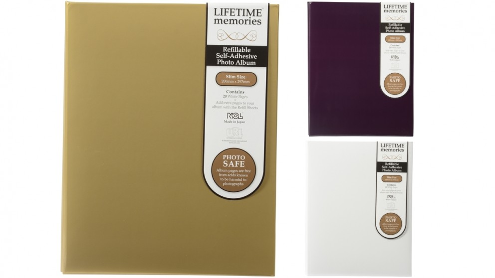 UR1 NCL Self Adhesive Slim Refillable White Pages Photo Album