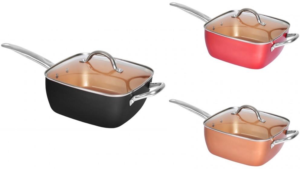 Saucepan Non Stick Deep Fry Steamer with Glass Lid Cookware Set