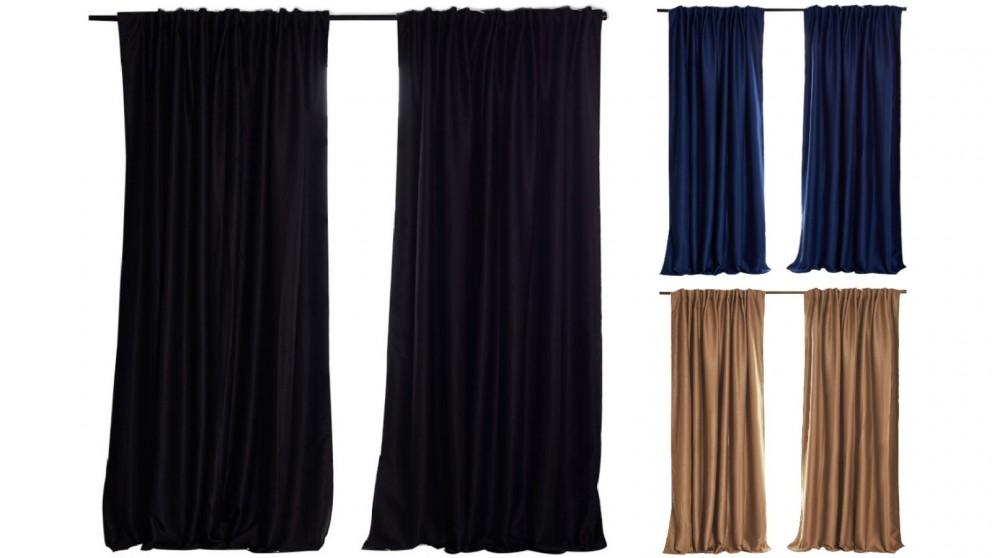 Set of 2 240cmx230cm Blockout Curtains