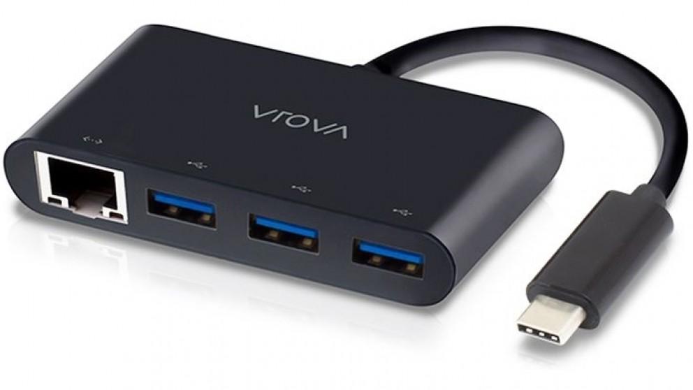 Alogic USB-C to Gigabit Ethernet & SuperSpeed 3-Port USB 3.0 HUB