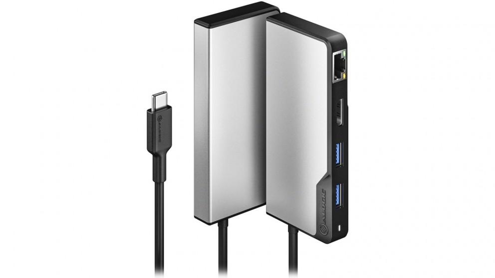 Alogic USB-C Fusion ALPHA 5-in-1 Hub - Space Grey