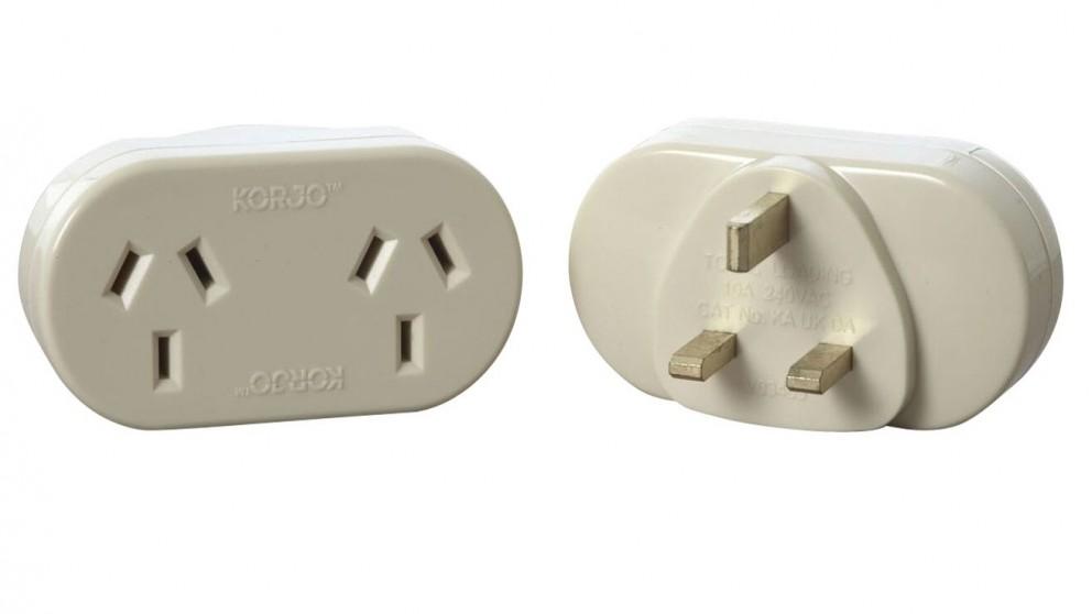 Korjo Double Adapter for UK