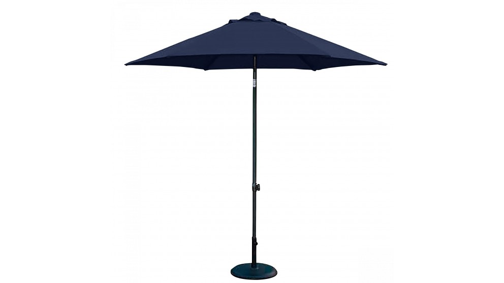 Brooklyn 2.5m Hexagonal Market Umbrella with Base - Navy