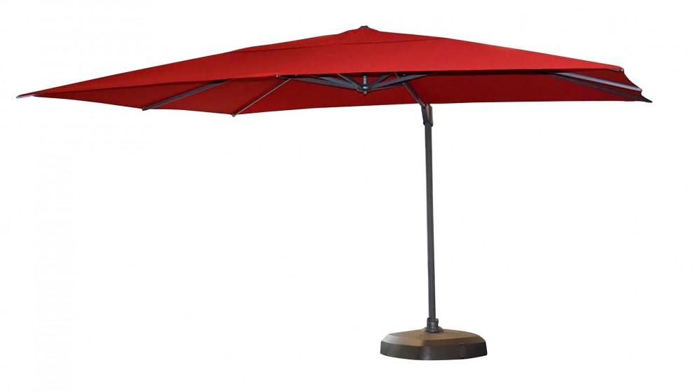Vancouver 3 x 4m Rectangular Cantilever Outdoor Umbrella - Red