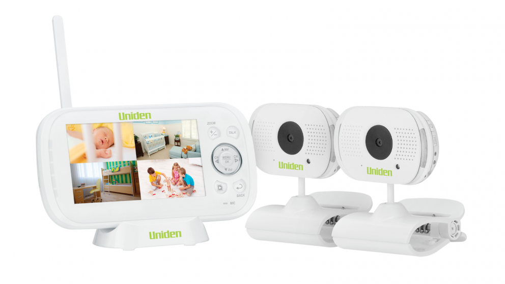 Uniden BW3102 4.3-inch Digital Wireless Baby Video Monitor with Remote Viewing with 2 Cameras