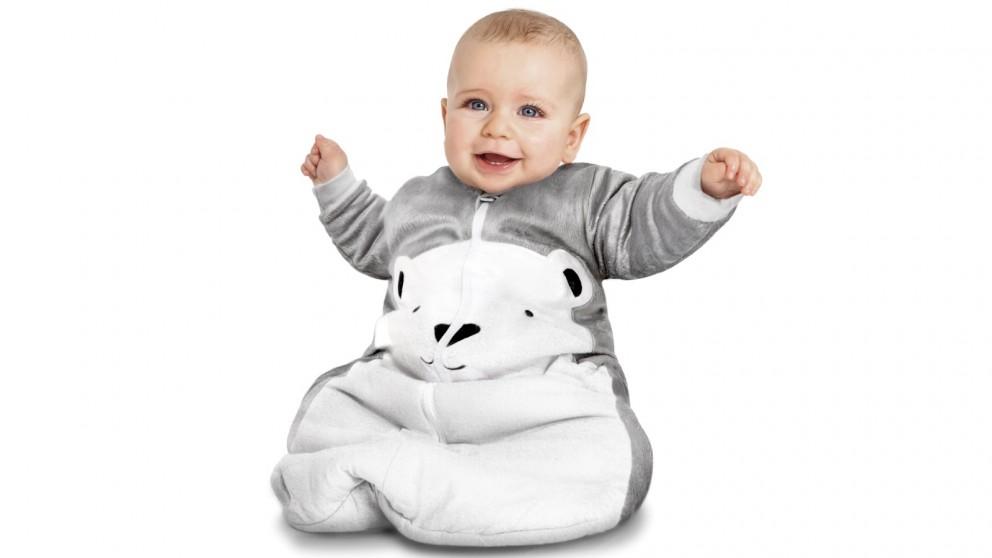 Baby Studio 3.0 TOG Cotton/Fleece Sleeping Bag with Arms Polar Bear - 0 - 6 Months