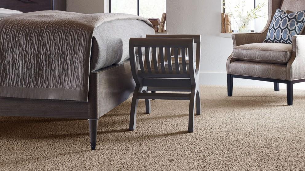 Karastan Unscripted Edge Creamy Mocha Carpet Flooring