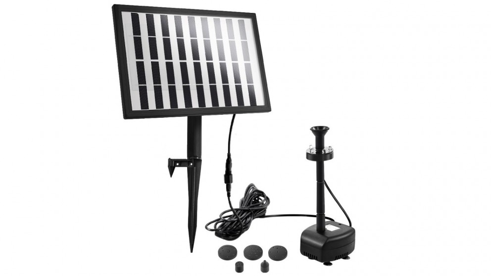 Solar 4ft Pond Pump for Water Fountain with LED Lights
