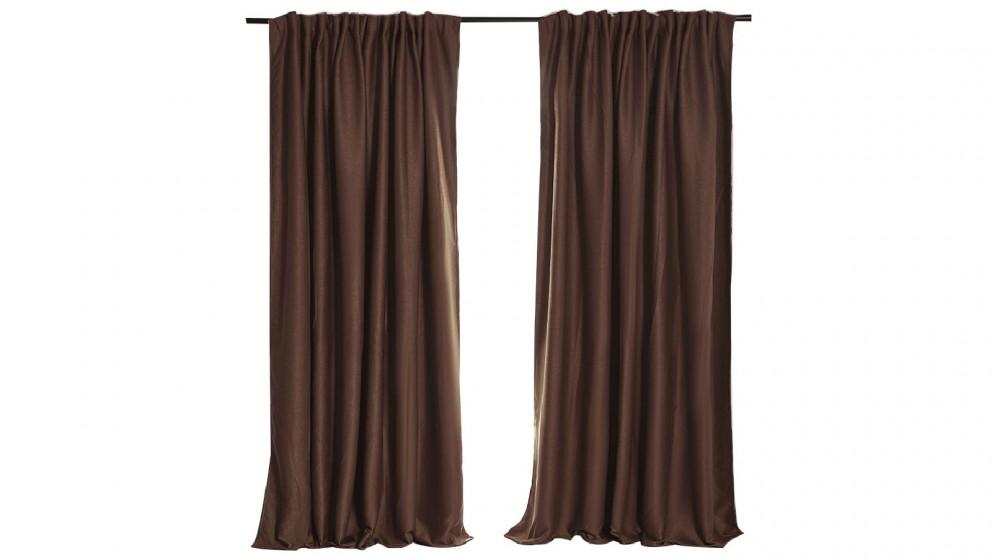 180x230cm Blockout Curtain - Stone