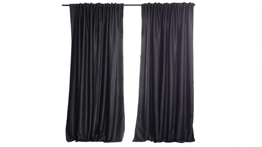 Set of 2 240 x 230cm Blockout Curtains - Dark Grey