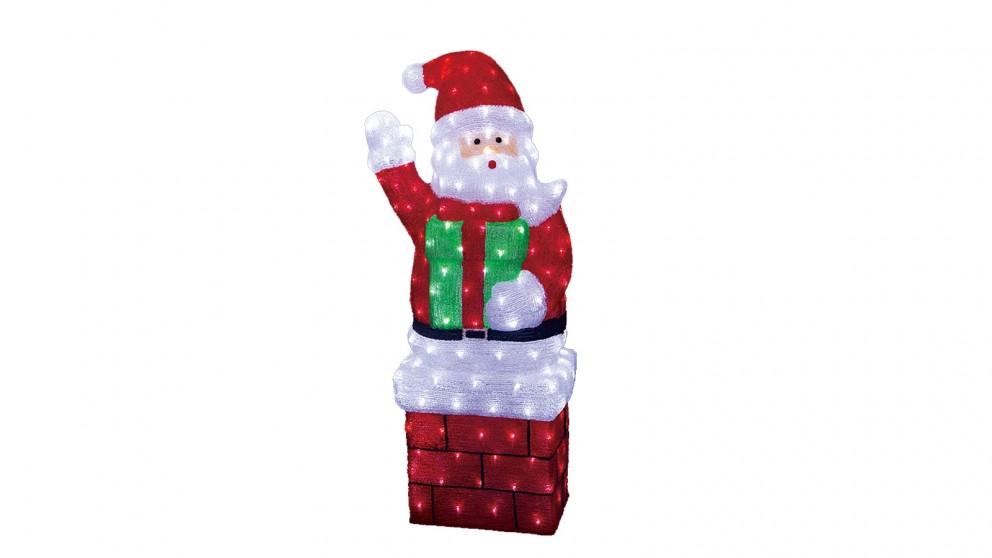 Lexi Lighting Acrylic Large Standing Santa with Gift Box - 118cm