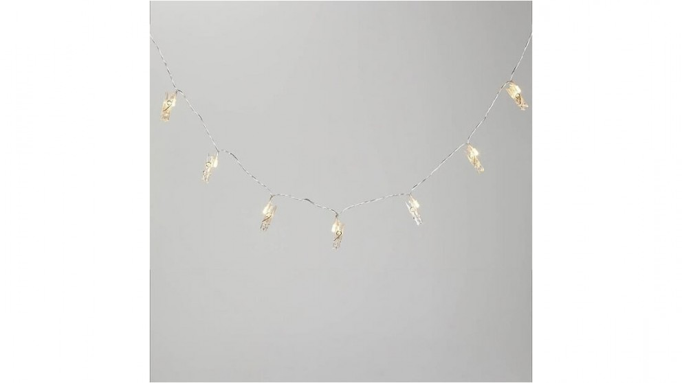 Lexi Lighting 24 Led String Light with Clamp Dual Powered