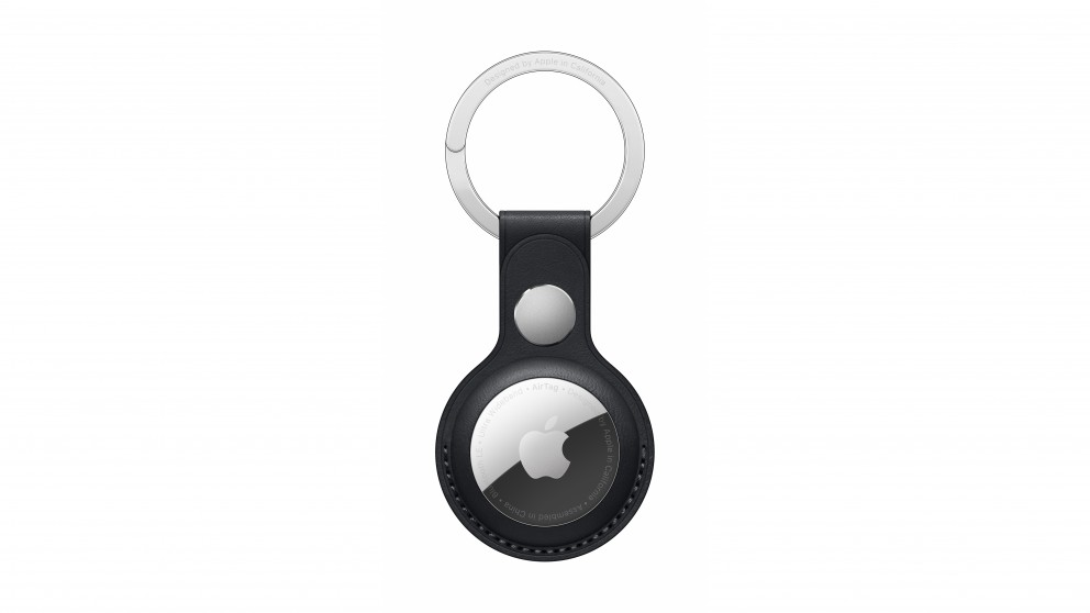Apple AirTag Leather Key Ring - Midnight