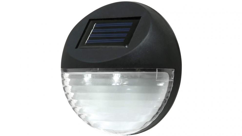 Utmark Solar LED Fence Round Light - Black
