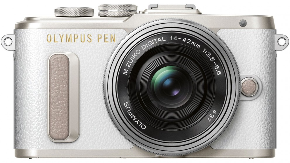 Olympus Pen E-PL8 Mirrorless Camera with 14-42mm Lens Kit - White