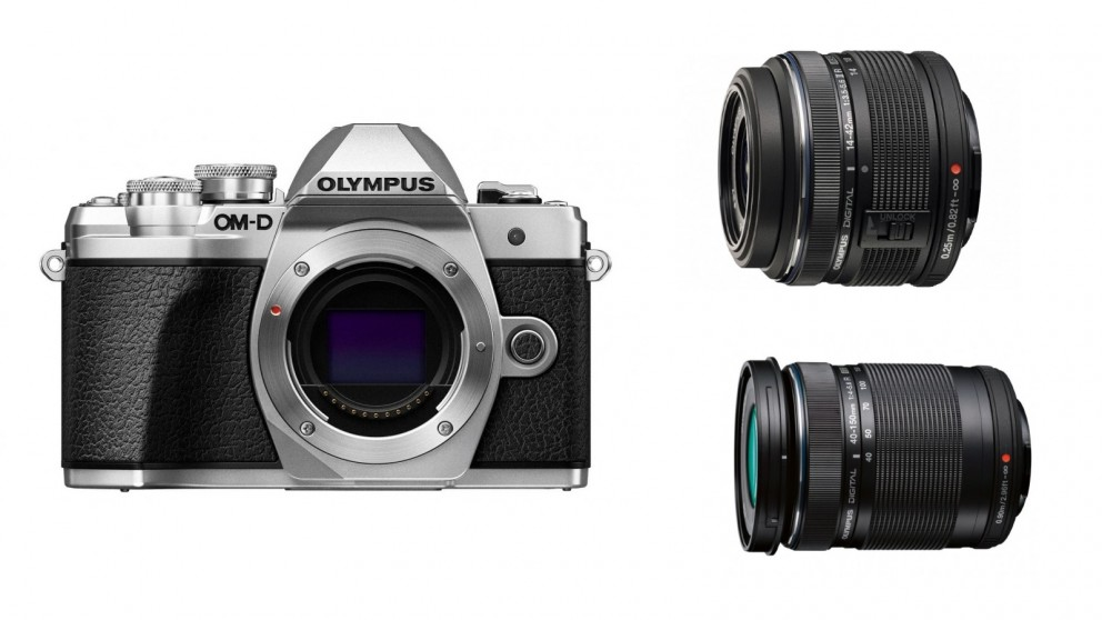 Olympus OM-D E-M10 MKIII Mirrorless Camera with 14-42mm + 40-150mm Lens Kit