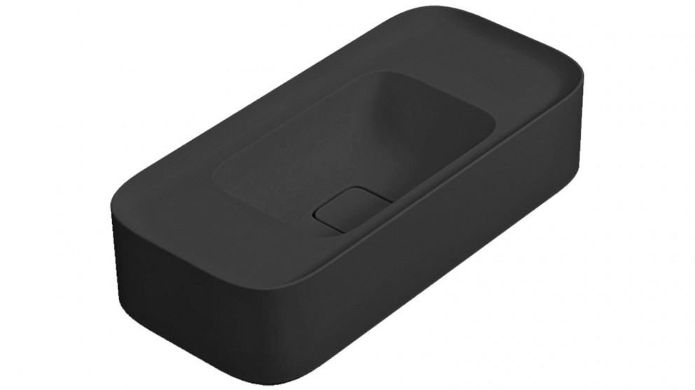Parisi Cameo 600mm Wall Basin with No Tap Hole - Matte Black