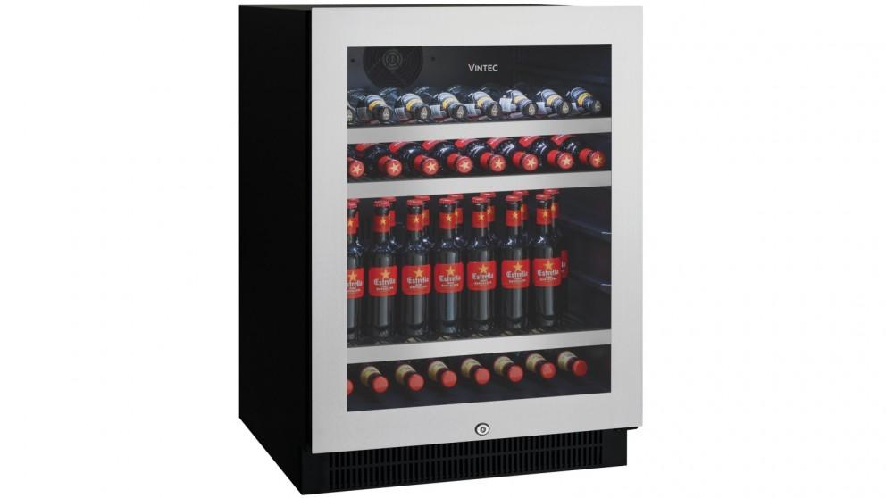 Vintec 100 Beer-Bottle Seamless Stainless Steel Beverage Centre