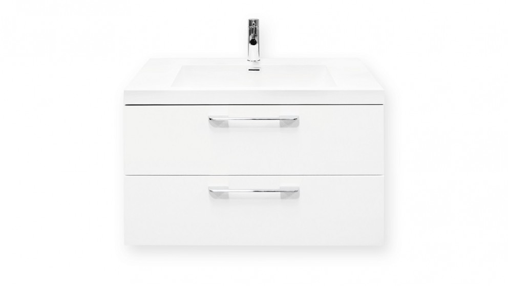 Forme Cabin 800mm White Gloss Wall Hung Vanity