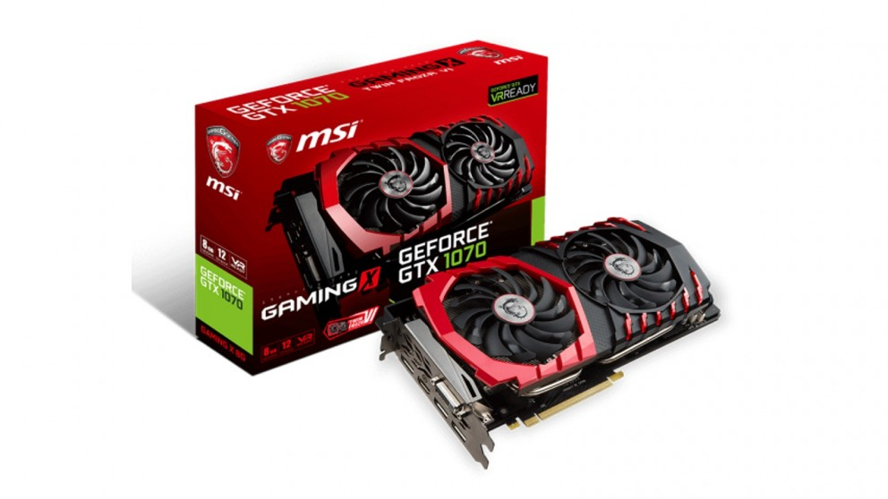 MSI NVIDIA GeForce GTX 1070 8GB Gaming X Graphics Card (Hardware Components)
