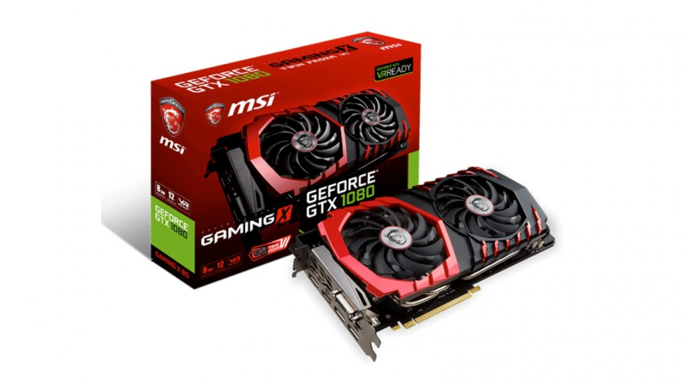 MSI NVIDIA GeForce GTX 1080 8GB Gaming X Graphics Card (Hardware Components)