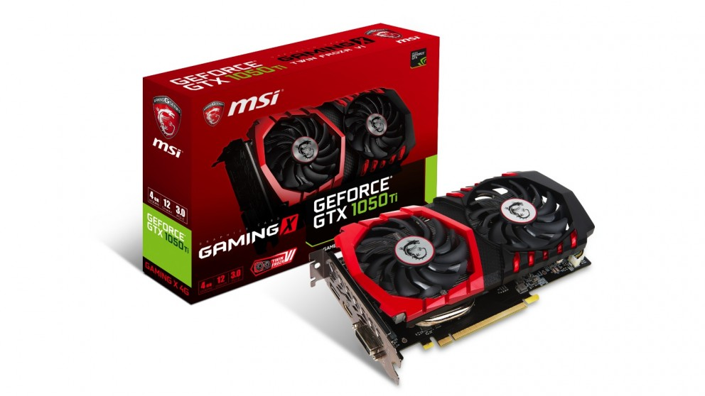 MSI NVIDIA GeForce GTX 1050Ti 4GB Gaming X Graphics Card (Hardware Components)