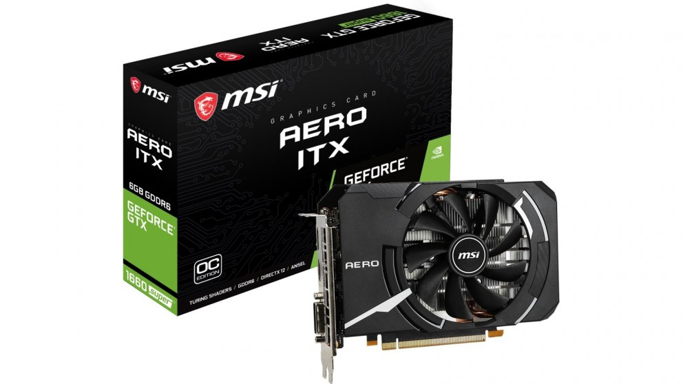 MSI NVIDIA GeForce GTX 1660 Super AERO ITX 6GB OC Graphic Card