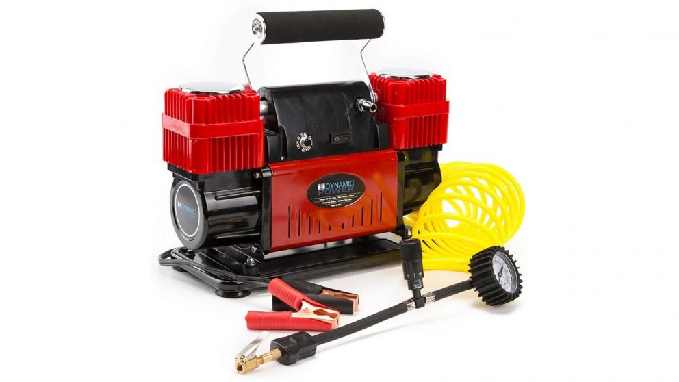 Dynamic Power 300L/MIN 12V Portable Car Tyre Air Compressor - Red