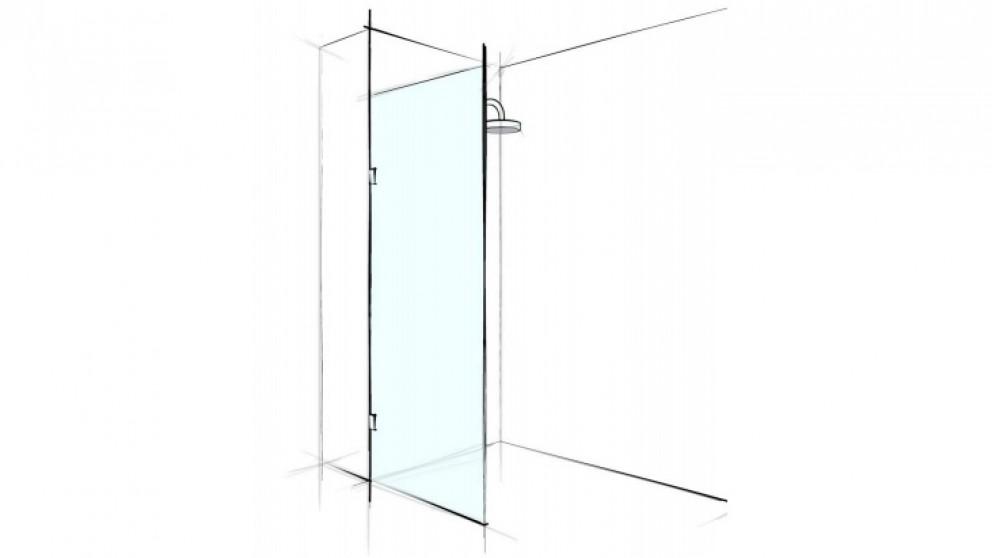 Verotti Custom 800mm Front Only Fix Panel Bracket Shower Screen - Clear