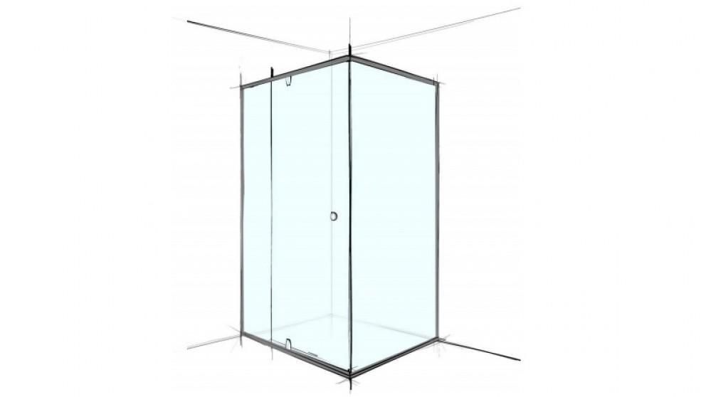 Verotti Custom 1000mm 3 Panels Semi Frameless Shower Screen