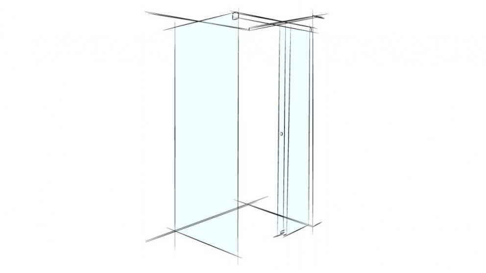 Verotti Xpace 1000mm Square Corner Set In Shower Screen - Clear